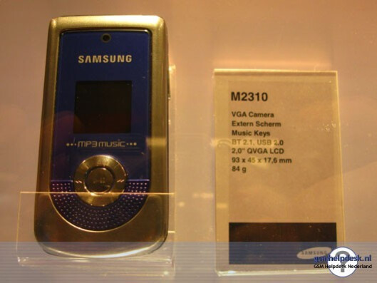 Samsung M2310 - Samsung adds another three phones to its catalogue
