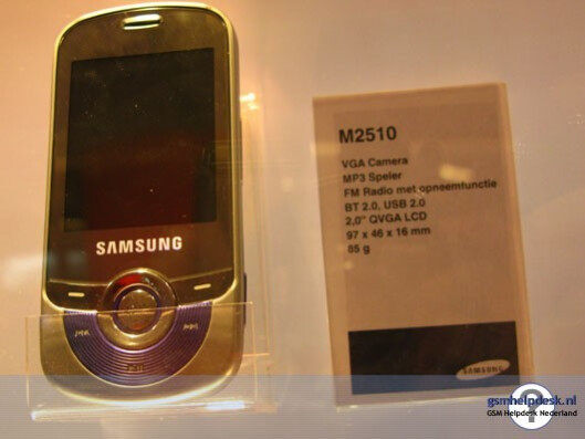 Samsung M2510 - Samsung adds another three phones to its catalogue