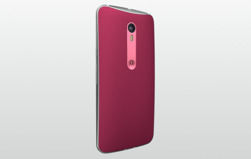 Moto X Pure in Raspberry Red, Pink Accent