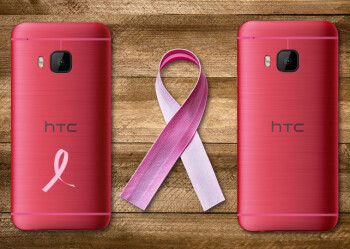 The HTC One M9 looks pretty in pink
