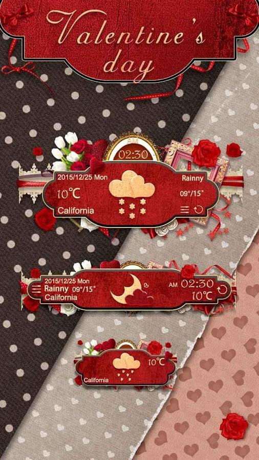 Valentine Weather Widget Theme