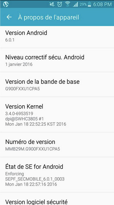 Unlocked Samsung Galaxy S5 receives Android 6.0