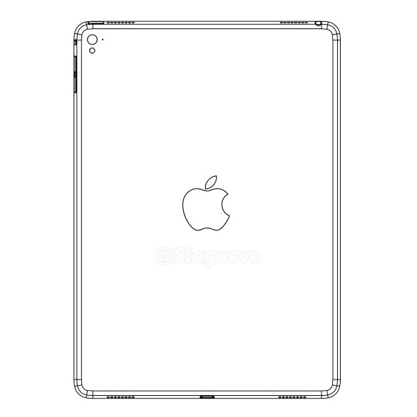 An alleged leaked iPad Air 3 schematic - Apple iPad Air 3 tipped to come with LED flash, four speakers