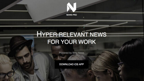 Microsoft News Pro is a news app for iOS