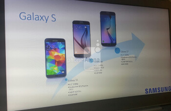 Presentation slide possibly exposing Galaxy S7 specs