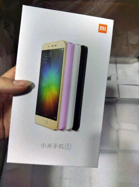 Xiaomi Mi 5 leaked images