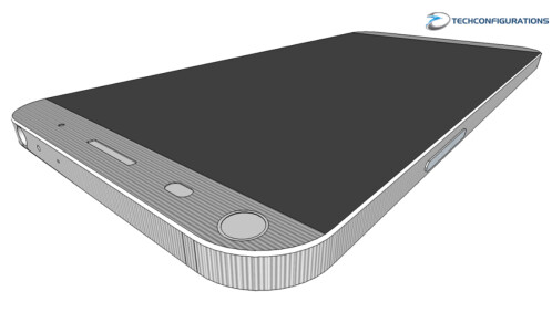 3D renders of the LG G5 made by Techconfigurations from diagrams of the phone and cases for the device