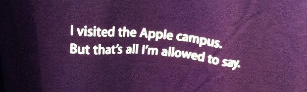 This t-shirt's message feels eerily appropriate. - Is Apple unable to dream up a killer new product because it no longer attracts young talent?