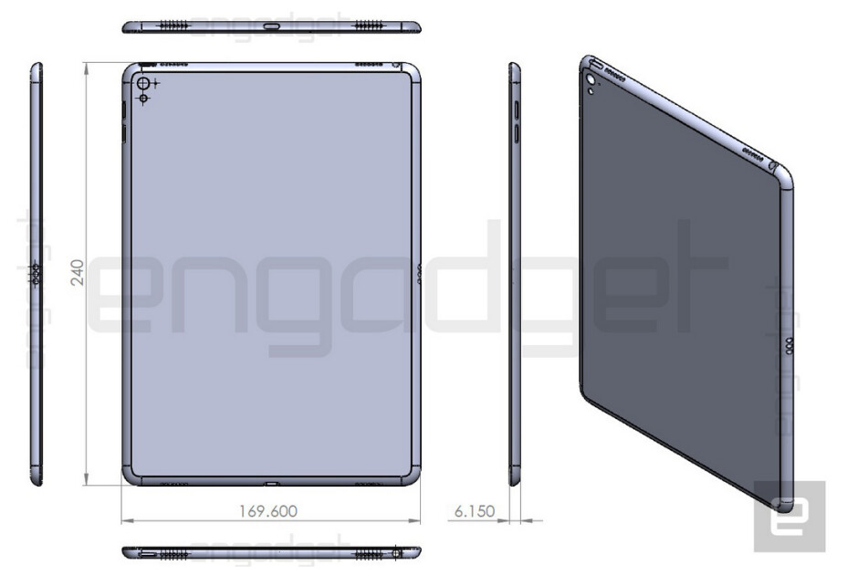 Claiming to show the Apple iPad Air 3, this drawing reveals the design and dimensions of the new flagship slate - Drawing of Apple iPad Air 3 confirms that the slate is a smaller version of the iPad Pro