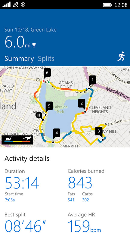 Update to Microsoft's Health App brings new features to Microsoft Band 2 users paired to an Android phone