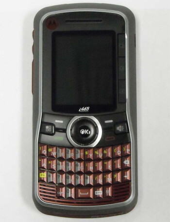 The i465 looks funny with its small display and front-facing keyboard