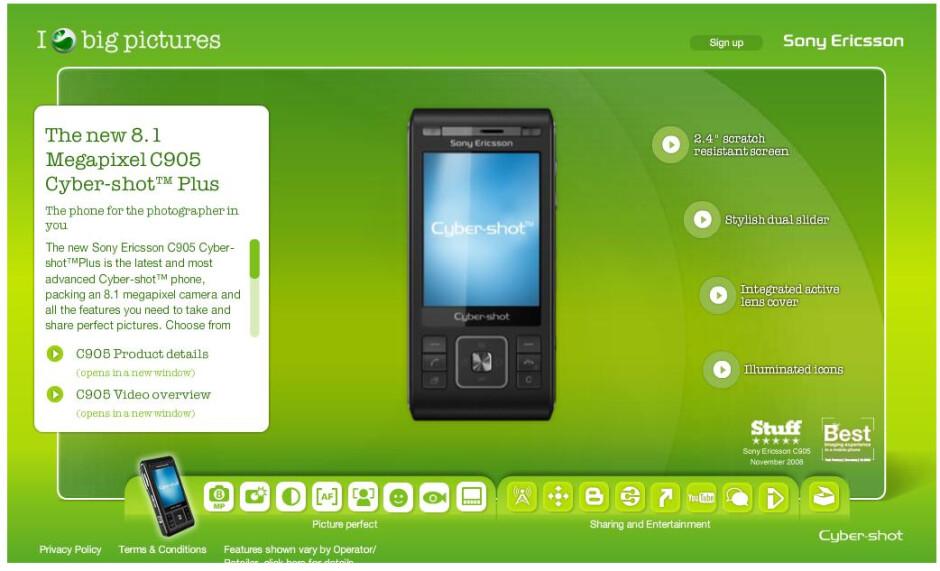 Sony Ericsson C905 Plus gets real