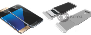 Alleged Galaxy S7 on the left, LG G5 - on the right