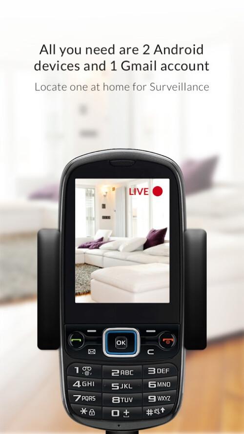 Alfred IP cam home surveillance app