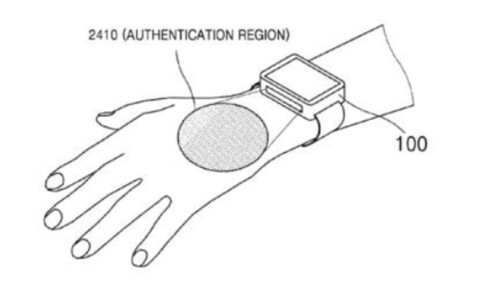Samsung files a patent for technology that uses a person's veins to verify identification