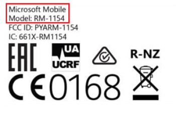 This is the FCC label that will appear on the dual SIM version of the Microsoft Lumia 650