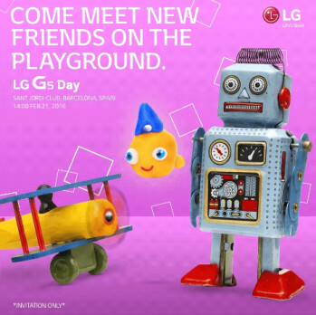 LG's invite for the LG G5 announcement event.