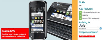 Vodafone confirms July launch for Nokia N97