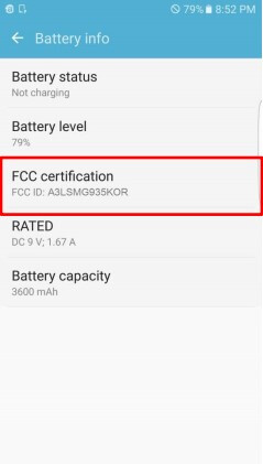 Galaxy S7 Edge file in the FCC confirms a large 3600 mAh battery