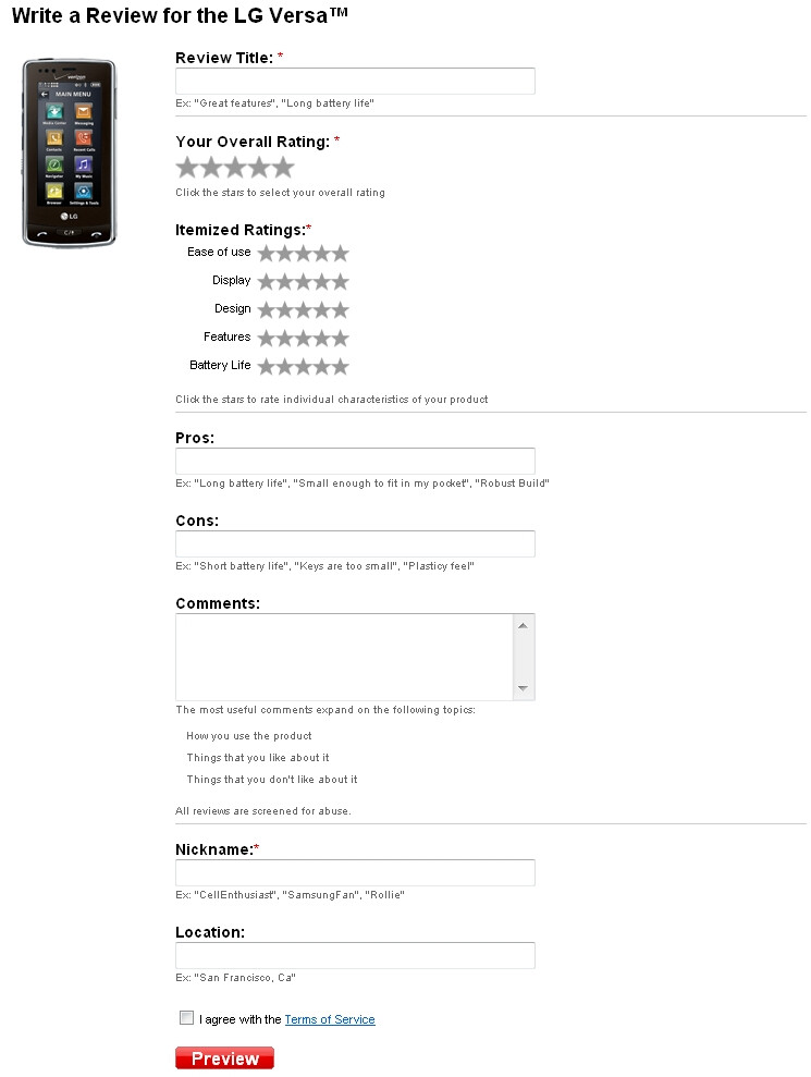 Verizon's User Review feature is now live