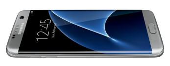Samsung Galaxy S7 edge appears in silver, looks pretty
