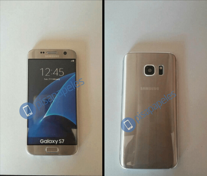 Galaxy S7, pictured in gold