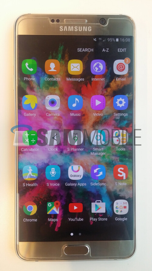 Galaxy Note 5 running Android 6.0.1 Marshmallow