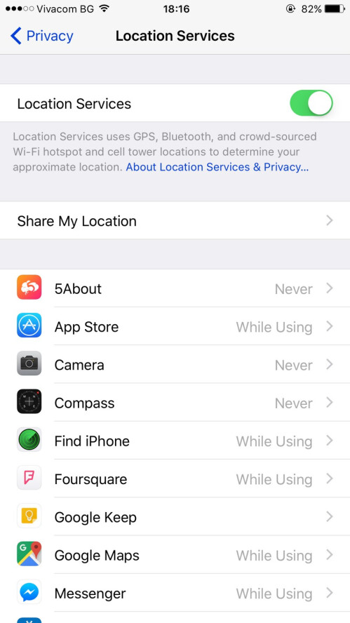 Manage your location settings