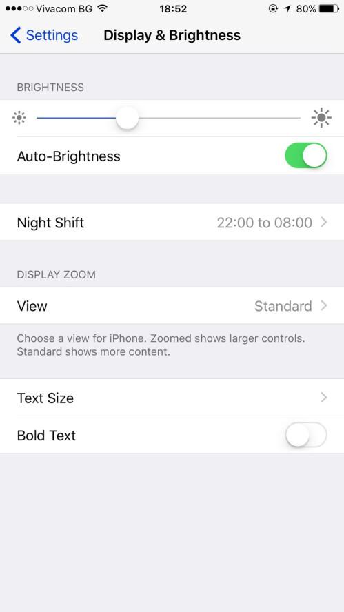 Enable auto-brightness