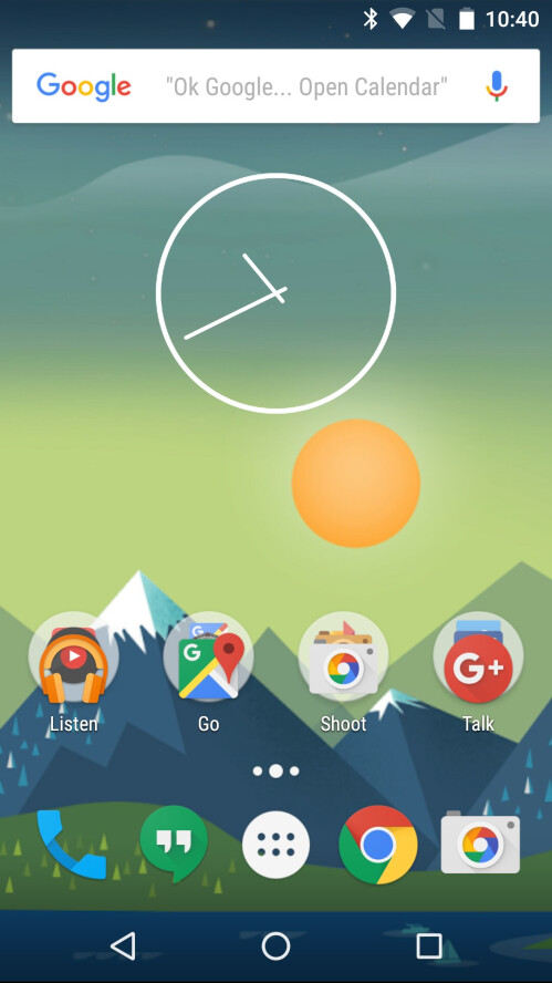 Previously, the analog clock widget was locked to this size...