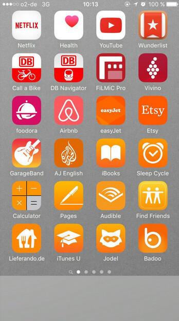 Arranging your iPhone apps by color could help you find a particular app faster