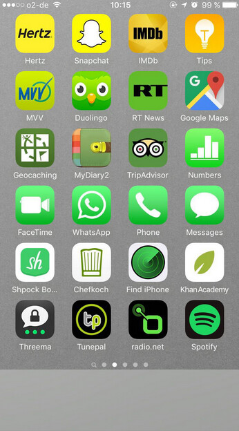 Arranging your iPhone apps by color could help you find a particular app  faster - image from Arranging your iPhone app icons by color might help you  find ...