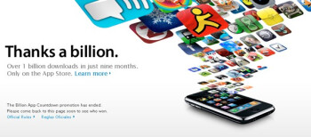 Apple's App Store hits 1,000,000,000 downloads