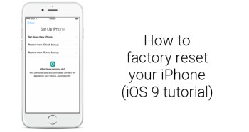 How to factory reset Apple iPhone 6s and iPhone 6s Plus (iOS 9 tutorial)