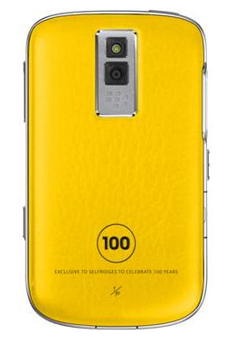 10 yellow BlackBerrys for Selfridges' 100th anniversary