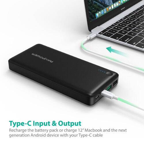 RavPower External Battery with Quick Charge and USB-C Port