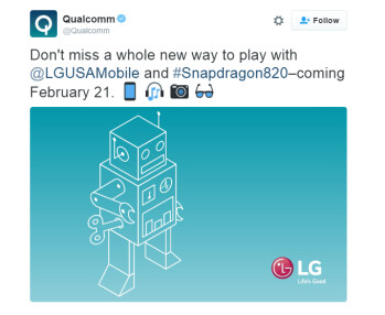 Qualcomm all but confirms that the LG G5 will use the Snapdragon 820