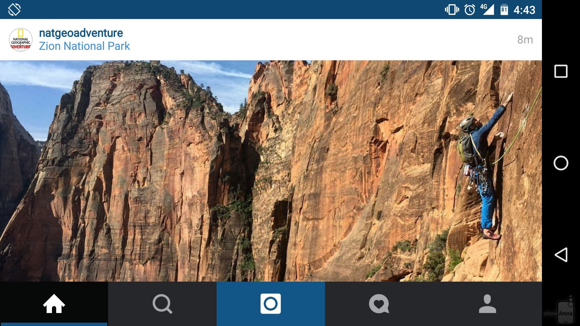 to this when your device is in landscape mode image from how to force landscape or portrait mode in apps like instagram and others android