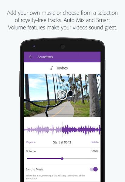 Adobe Premiere Clip video editor for Android