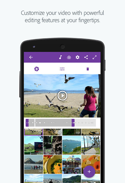 Adobe Premiere Clip video editor for Android
