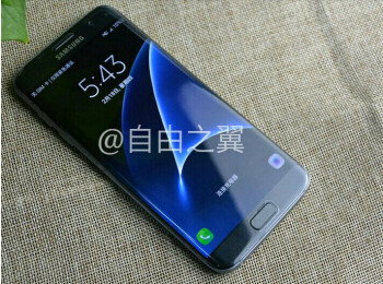 Galaxy S7 Edge leaks out with lit-up lock screen, fine screen-to-body ratio