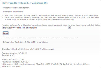 Vodafone releases official 4.7.0.141 OS upgrade for Storm 9500
