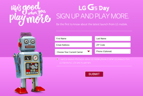 Latest alleged LG G5 images, plus US teaser web page screenshot