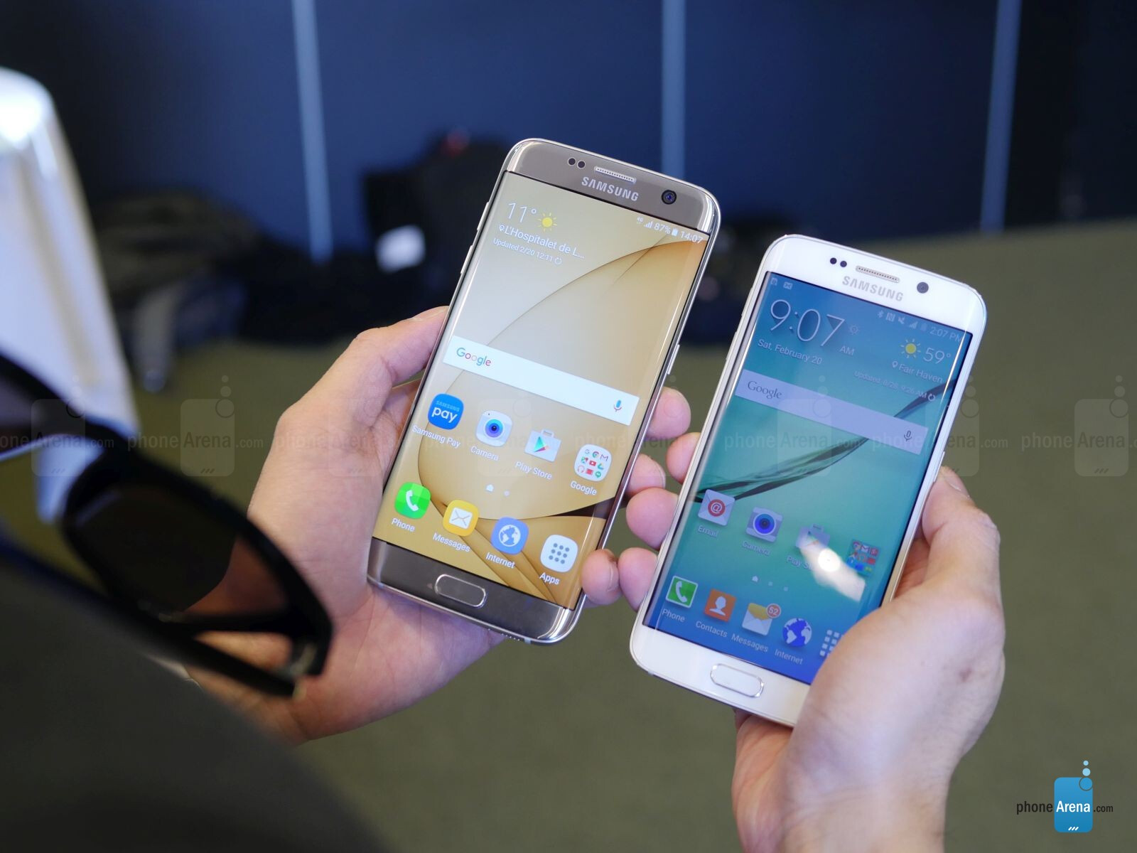 samsung galaxy s7 edge vs samsung galaxy s6 edge vs