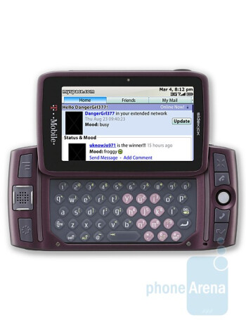 The first 3G capable Sidekick LX comes in two different colors - Carbon and Orchid