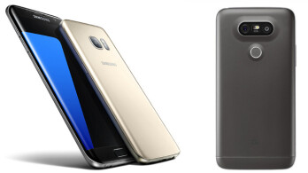 Samsung's Galaxy S7 and S7 Edge (left) vs LG G5 (right)