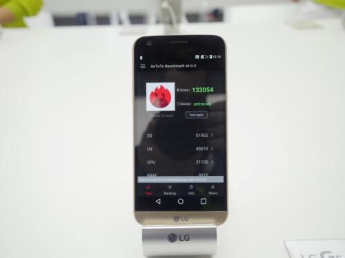 LG G5 benchmark test scores