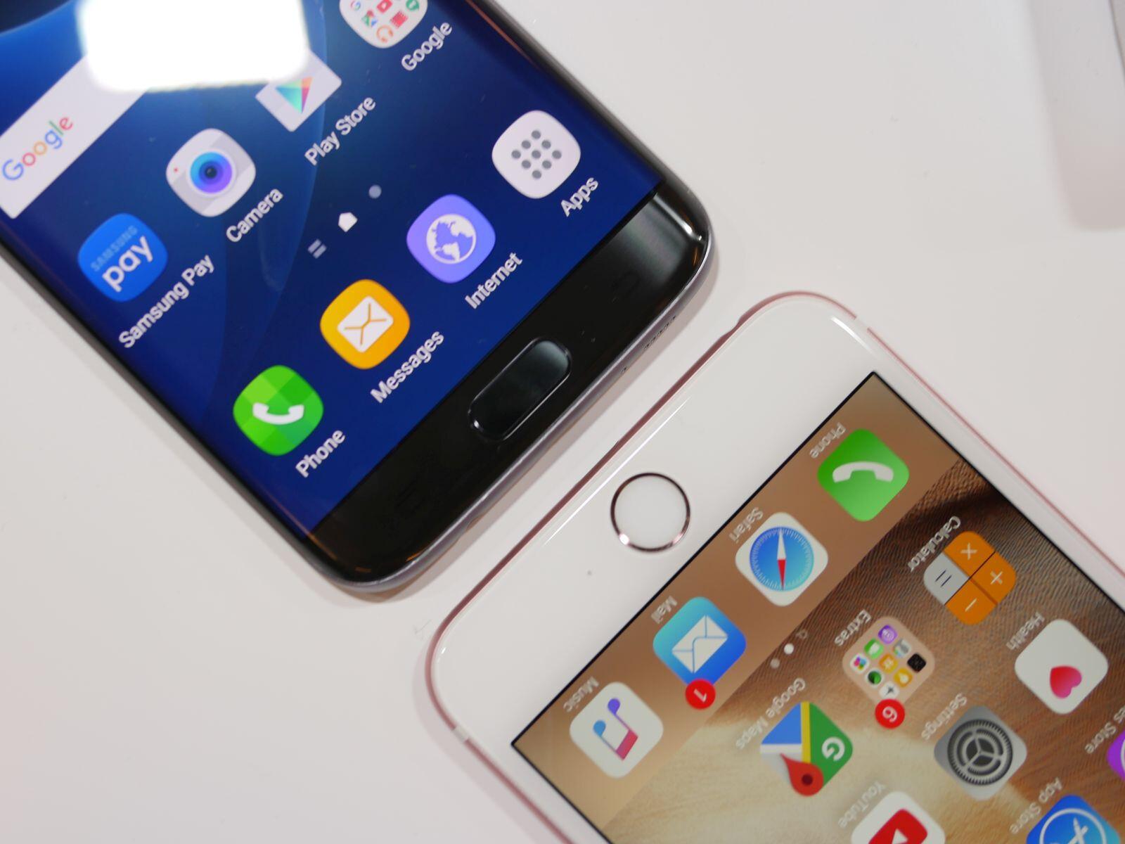samsung galaxy s7 edge vs apple iphone 6s plus first look. Black Bedroom Furniture Sets. Home Design Ideas
