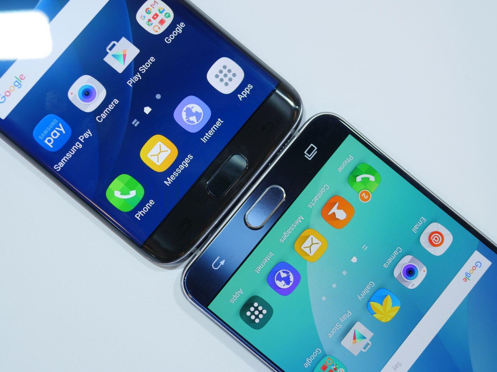 Samsung Galaxy S7 Edge Vs Samsung Galaxy Note 5: First