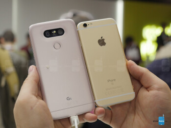 LG G5 vs Apple iPhone 6s: first look